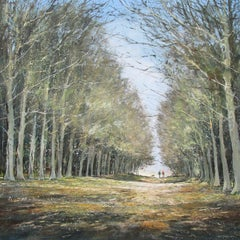 Michael Sanders, A Walk in Felbrigg, Original Landscape Painting Traditional Art