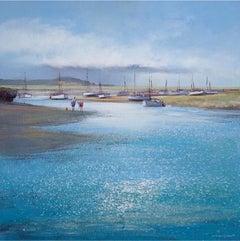 Crabbing Burnham Overy Staither - Michael Sanders - Large canvas print - Art