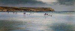 Michael Sanders, Carne Beach,  Limited edition seascape and landscape artwork