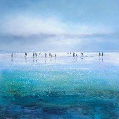 Michael Sanders, Sparkling Beach, Limited Edition Seascape Print, Contempoary