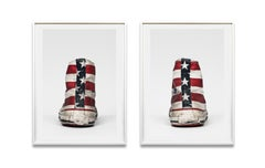 Converse, Stars and Stripes- 21st Century, Contemporary, Abstract Photography