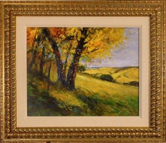 """""""Golden Fields"""" Original Oil Painting on Canvas, Framed, Signed by Artist"""