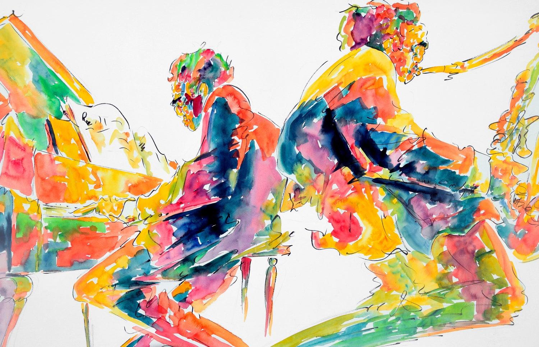 Michael Smiroldo Jazz Musicians Painting Im Angebot Bei 1stdibs