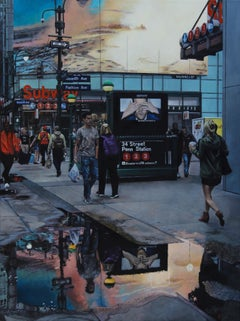 At First Sight - NYC Cityscape oil painting Contemporary modern Art