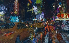 Boccioni's Way - New York City landscape oil painting Contemporary modern Art