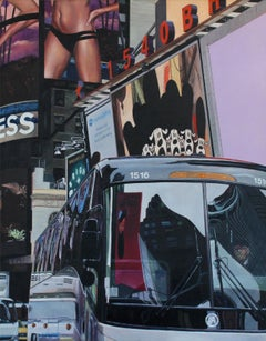 Broadway Express NYC  Cityscape oil painting Contemporary modern Art