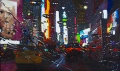 Broadway Splash - NYC city oil landscape painting contemporary modern art