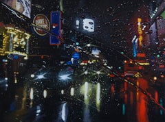 Dark Night - original NYC city night realism landscape painting