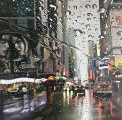 Fibonacci sequence original NYC CITY  landscape painting