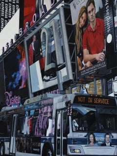Forever 21 - NYC Cityscape shops neon oil painting Contemporary modern Art