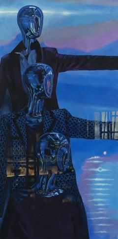 In God we Trust original figurative painting