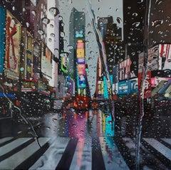Liquid Lighting - original contemporary cityscape oil painting water