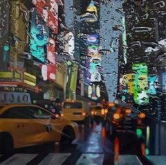 Midtown Mayhem - original New York Cityscape oil painting Contemporary Modern