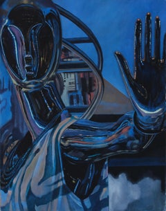 Name of Love I - original figurative painting contemporary modern art