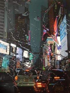 Parallax View- NYC Cityscape painting contemporary art-21st Centu