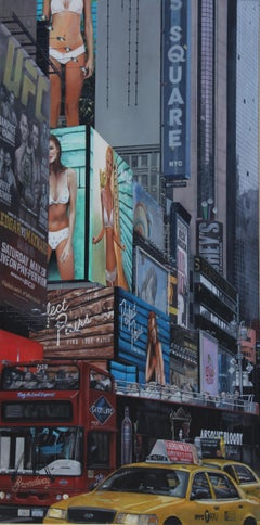 Perfect Pair NYC  Cityscape oil painting Contemporary modern Art
