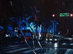 Rainy Days in Miami - original cityscape oil painting contemporary modern art