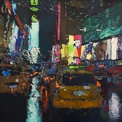 Rainy Days - New York Cityscape oil painting Contemporary modern Art