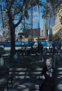 Sycamore New York Cityscape oil painting Contemporary modern Art