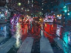 Symphony In Rain - original city landscape oil painting modern contemporary art