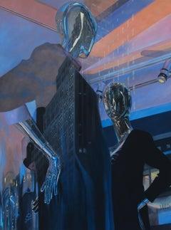 The Duel original figurative painting