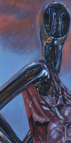 Waking - original figurative surreal painting contemporary modern 21st century