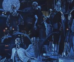 World of Sacredness - original figurative painting contemporary modern art