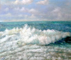 The Wave. Contemporary Impressionist Seascape Oil Painting