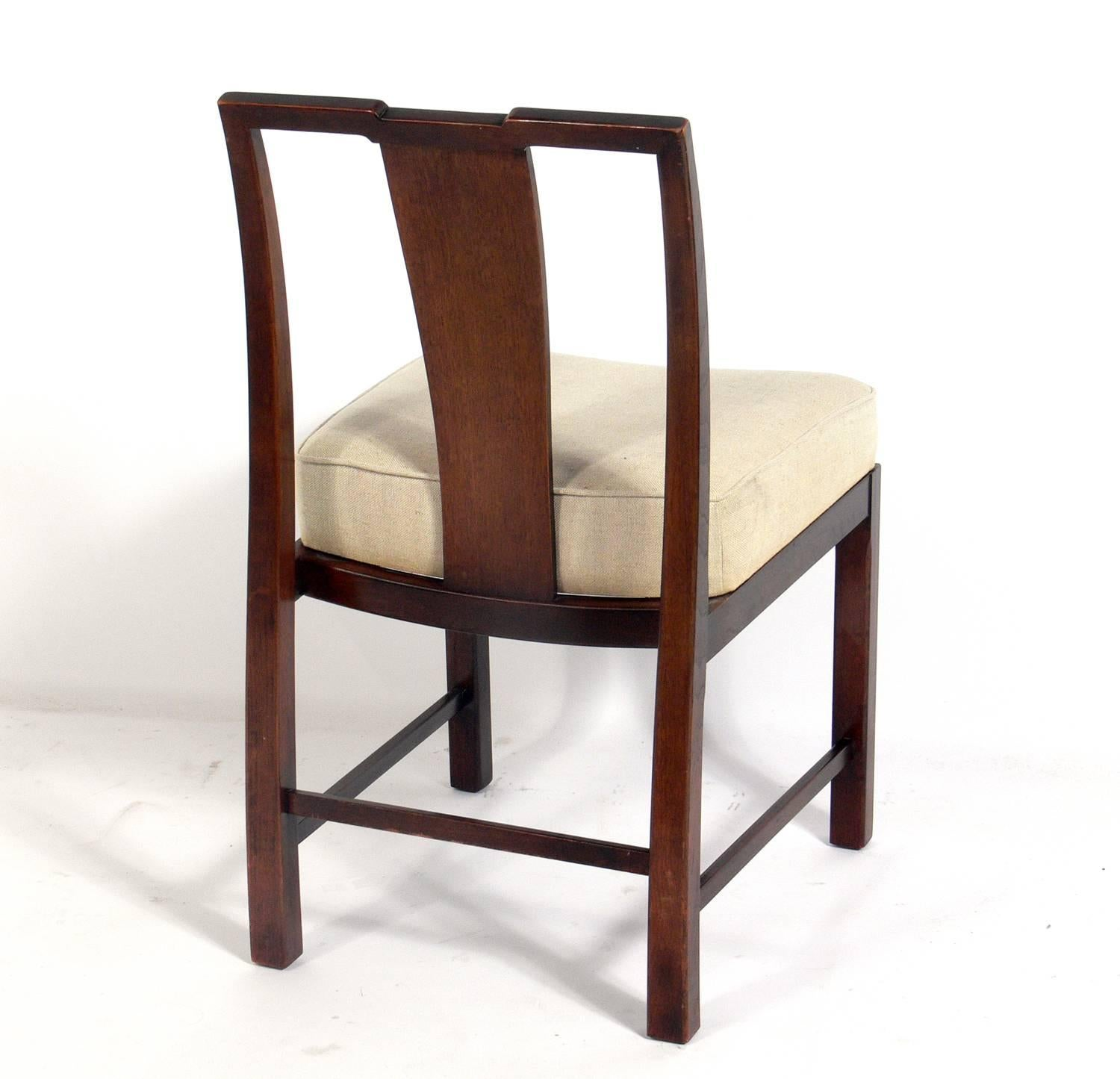 American Michael Taylor Asian Inspired Dining Chairs For Sale