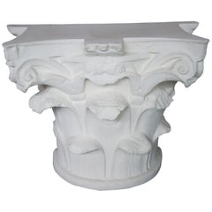 Michael Taylor Designs Faux Stone Spanish Capital Console Entry Table MTD-2014