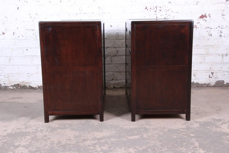 Michael Taylor for Baker Bachelor Chests or Large Nightstands, Newly Restored For Sale 4