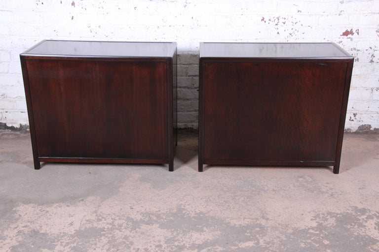 Michael Taylor for Baker Bachelor Chests or Large Nightstands, Newly Restored For Sale 5