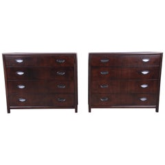 Michael Taylor for Baker Bachelor Chests or Large Nightstands, Newly Restored