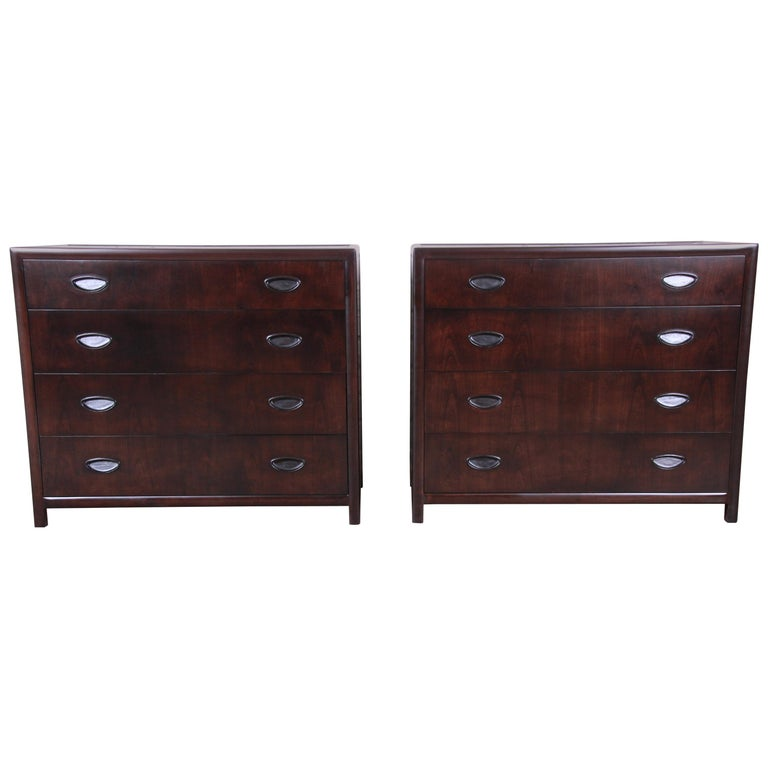 Michael Taylor for Baker Bachelor Chests or Large Nightstands, Newly Restored For Sale