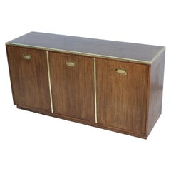 Michael Taylor for Baker Brass and Oak Modern Credenza
