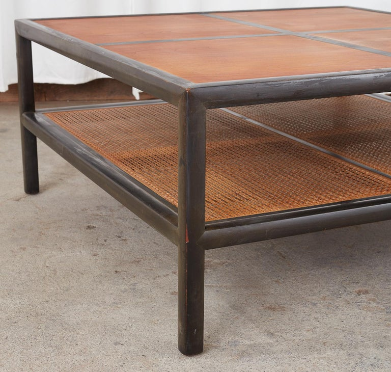 Michael Taylor for Baker Ebonized Two-Tier Cocktail Table For Sale 4