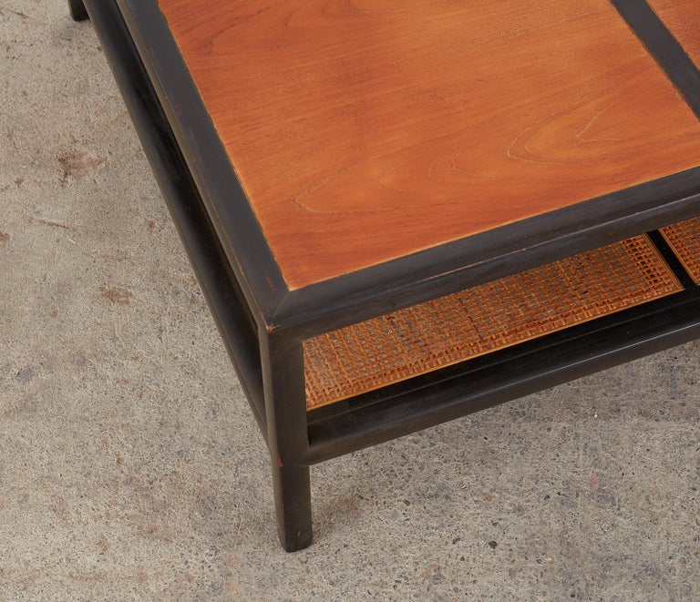 20th Century Michael Taylor for Baker Ebonized Two-Tier Cocktail Table For Sale