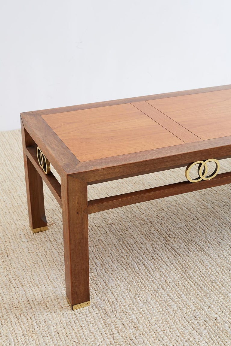 Mid-Century Modern Michael Taylor for Baker Far East Coffee Table For Sale
