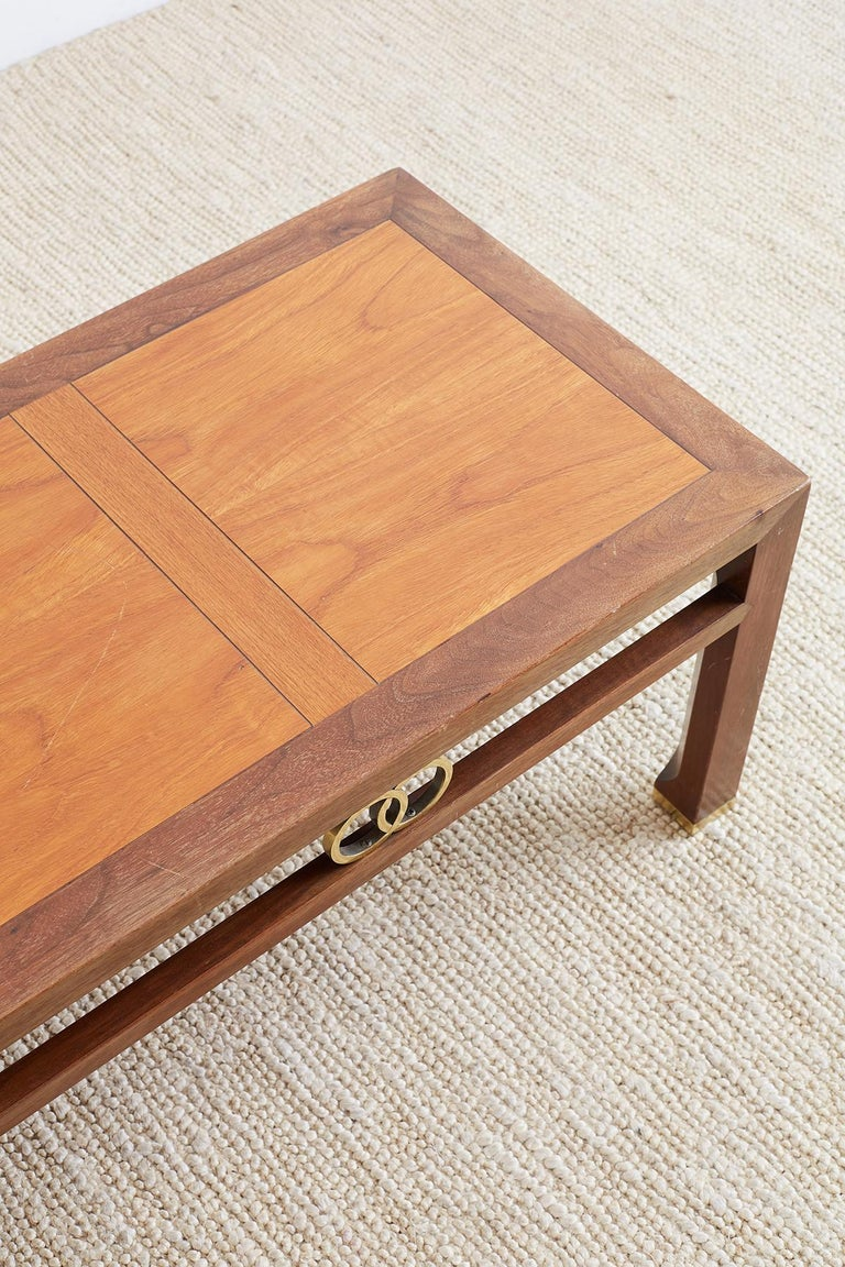 20th Century Michael Taylor for Baker Far East Coffee Table For Sale