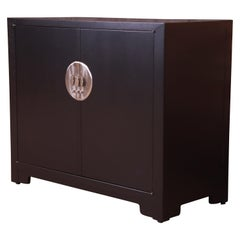 Michael Taylor for Baker Far East Collection Chinoiserie Bar Cabinet, Restored