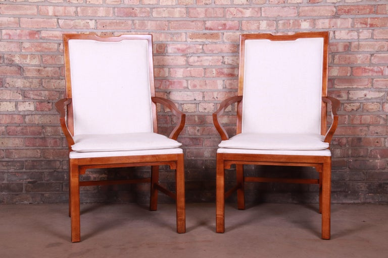 An exceptional pair of midcentury Hollywood Regency chinoiserie armchairs  By Michael Taylor for Baker Furniture