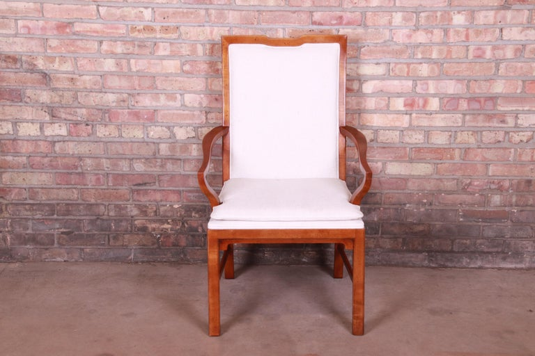 Michael Taylor for Baker Far East Collection Walnut Armchairs, Pair 1