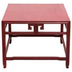 Michael Taylor for Baker Far East Red Occasional Table