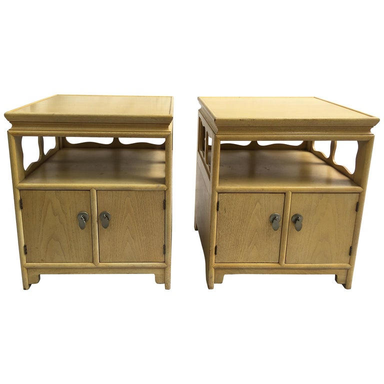 """Michael Taylor for Baker Furniture """"Far East"""" Nightstands For Sale"""