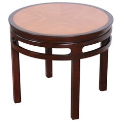Michael Taylor for Baker Midcentury Chinoiserie Teak and Mahogany Side Table