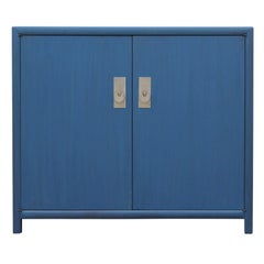 Michael Taylor for Baker New World Collection Cabinet in Blue