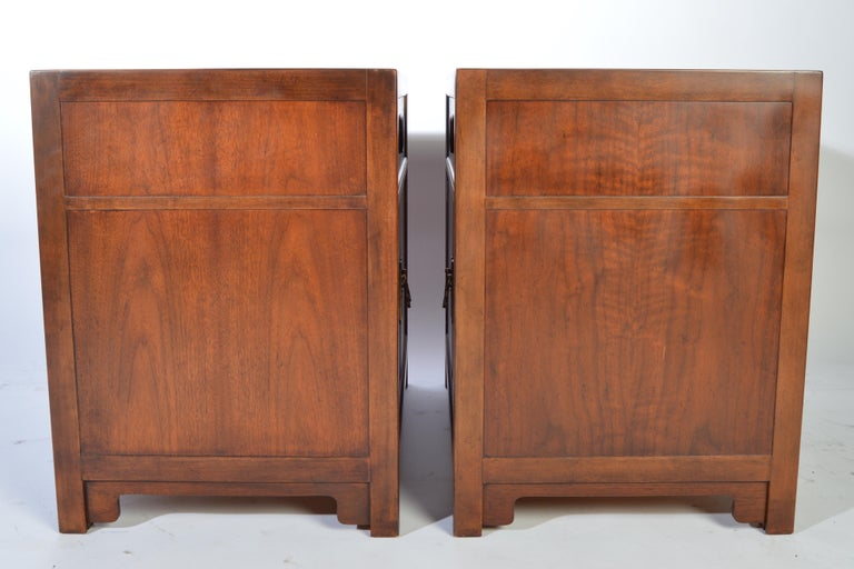 American Michael Taylor for Baker Nightstands-Far East Collection, circa 1955 For Sale