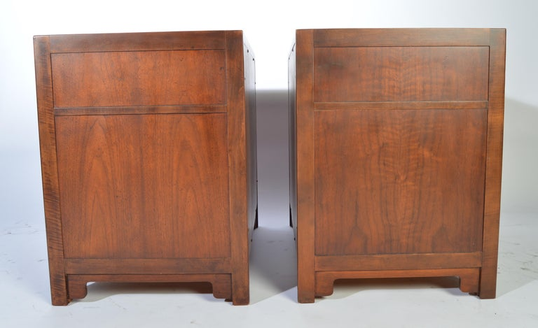 Mid-20th Century Michael Taylor for Baker Nightstands-Far East Collection, circa 1955 For Sale