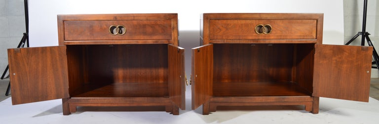 Michael Taylor for Baker Nightstands-Far East Collection, circa 1955 For Sale 2