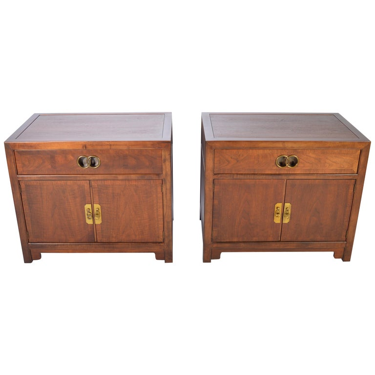 Michael Taylor for Baker Nightstands-Far East Collection, circa 1955 For Sale